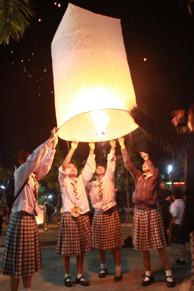 Chiang Mai lantern festival Varee Chiang Mai School