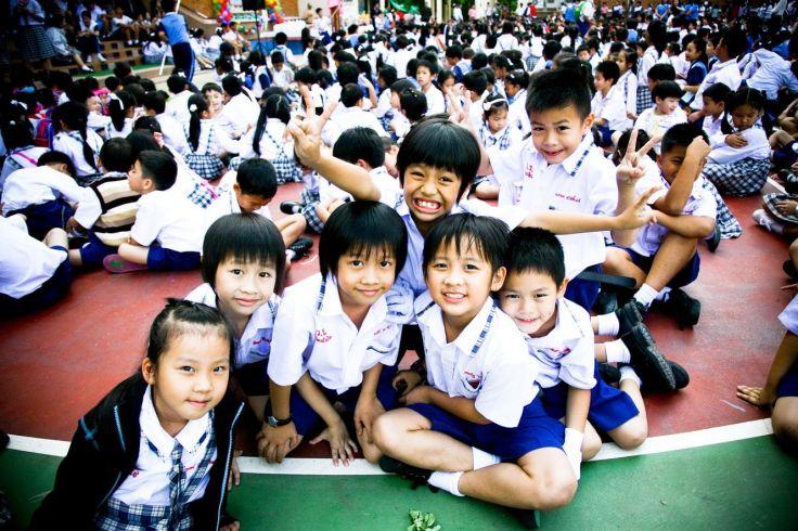 Prathom students at Varee School