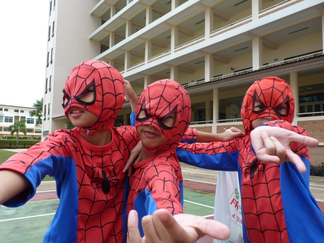Spiderman amazing student school Thailand International Chiang Mai Varee kids