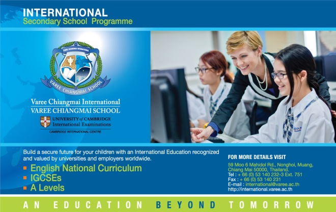 International school Thailand A Levels IGCSE Chiangmai Varee UK Curriculum Education ASEAN
