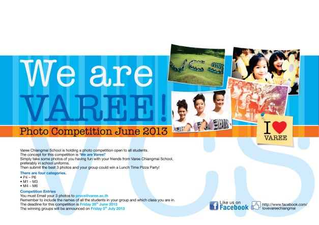 We are Varee Photo competition school Thailand