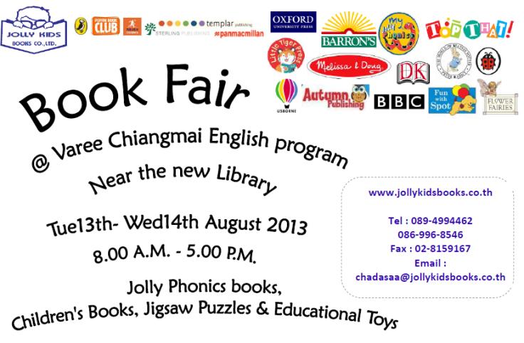 Book fair poster Varee