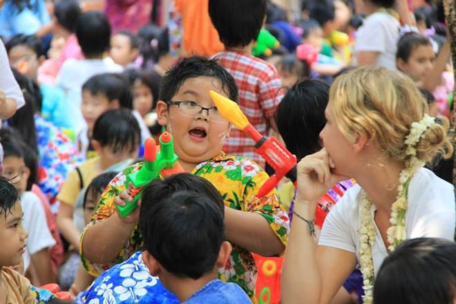Songkran Water Festival Chiang Mai Thailand
