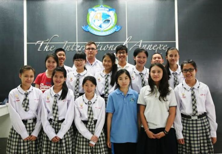 students take Cambridge Preliminary English Test at Varee School in Thailand