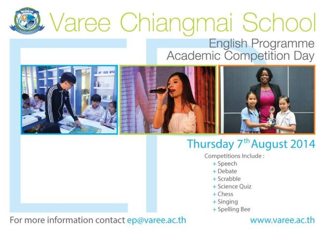 Varee School Academic competition 2014 Thailand