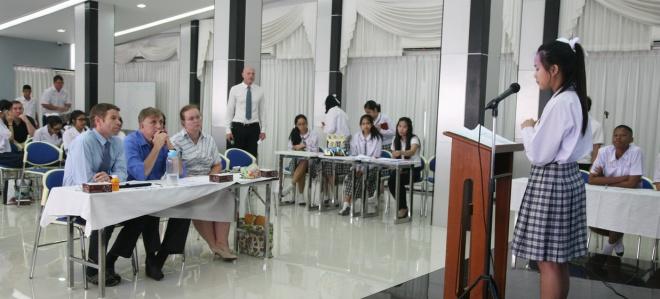 Speech competition Varee School Thailand
