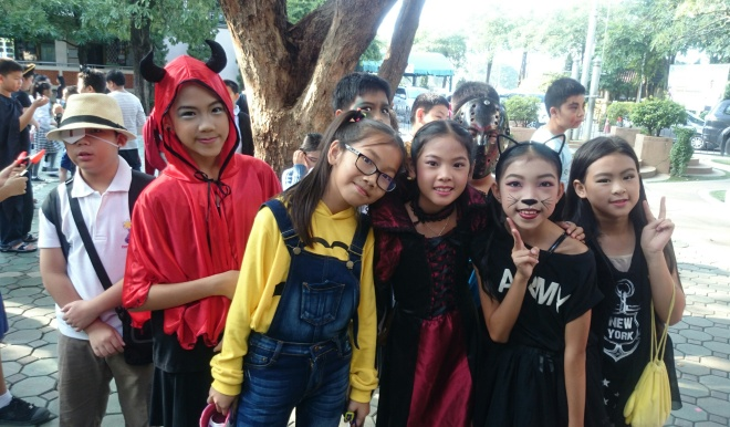 Halloween activities at Varee International school in Thailand