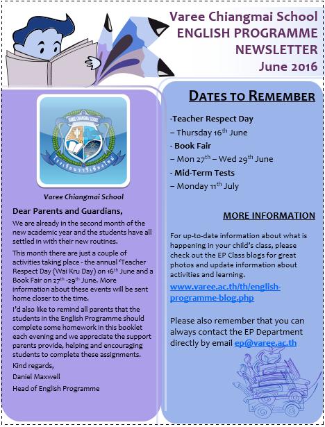 June e-news letter