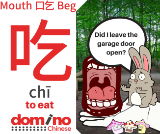 Character for word 'to eat' in Mandarin Chinese