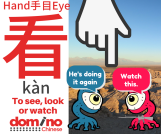Character for word 'to look' in Mandarin Chinese